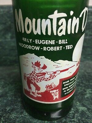Vintage Hillbilly Mountain Dew Soda Bottle With 6 Names By Dixie Refreshments Co