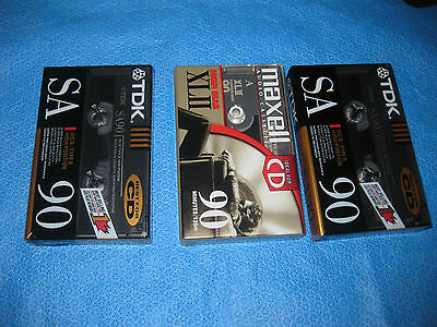 TDK and MAXELL High Bias Cassette Tapes For CD Recording - Lot Of 3 -NEW