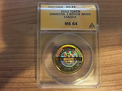 2013 Casascius 1.0 Bitcoin ANACS MS 64 Certified (Offers Accepted)