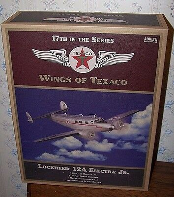 Wings of Texaco #17 in Series Lockheed 12A Electra Jr, New unopened Bank