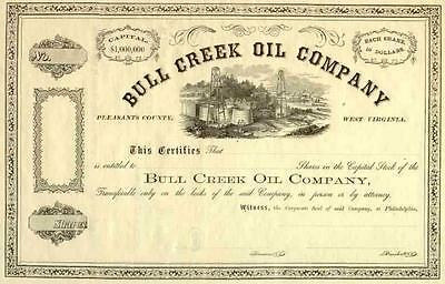 18__ Bull Creek Oil Stock Certificate
