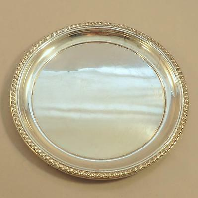 """8"""" Cartier Sterling Salver Tray Rope Edge"""