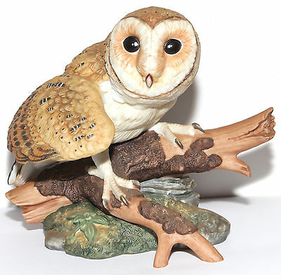 1986 Barn Owl Majestic Owls Of The Night Hamilton Collection Porcelain Figurine