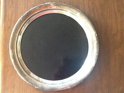 """Rare Vintage Sterling Silver Towle marked 04 with black center 14 1/2"""" tray"""