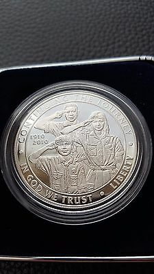 2010-P Silver Boy Scouts of America Commemorative Proof US Coin - w/case and COA