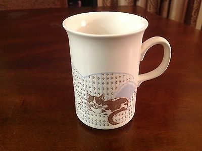 Vintage Churchill England Cup Mug With Cats & Mouse On Sofa Design