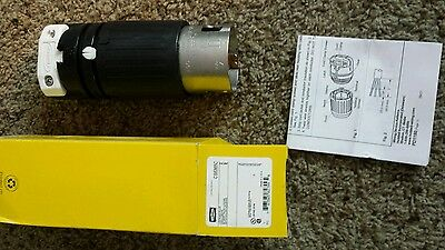 Brand New Hubbell CS6365C Locking Plug, 50 amp, 125/250V, 3 Pole and 4 Wire