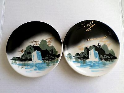 Vintage Matthew Adams Hand Painted Signed Plates Lot Of 2