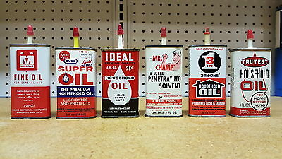 Lot of vintage household oil can handy oilers