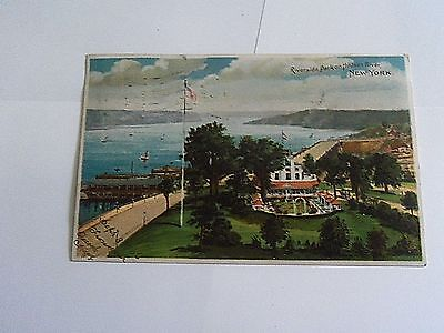 "Postcard "" New York City- Riverside Park On Hudson River- Used Card"