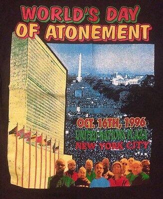 Vintage 1996 Day Of Atonement T Shirt L Rap Tees Tour Band Million Man March NYC