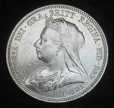 1893 Shilling Great Britain Silver Coin