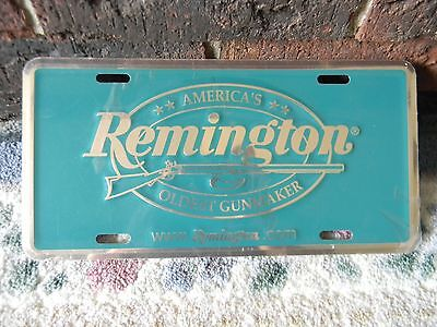 remington license plate metal embossed