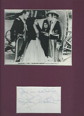 RARE! Young JOHN WAYNE co-star RUTH HALL Photo Matted w/ 3x5 Card signed by HALL