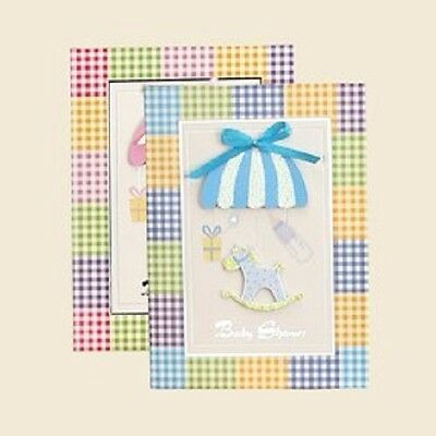 Baby Shower Baby Girl or Boy Horse Theme 3-D Invitations Spanish 10 Ct