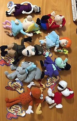 Lot X 9 ROCKY AND BULLWINKLE & Friends Fearless Leader Plush Toys More ETC