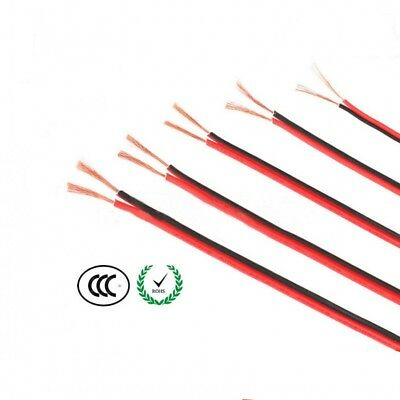 Home Loud Speaker Cable RVB2 x 0.3/0.5/0.75/1/1.5mm² PVC Wire 2 Core Red Black
