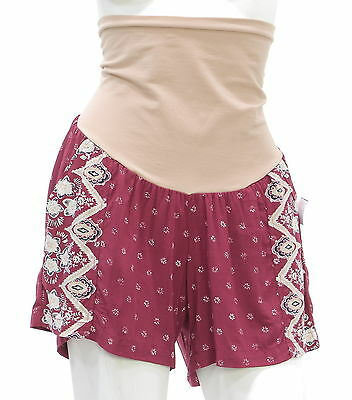 New With Tags Women's MOTHERHOOD Red Casual Shorts Size Small