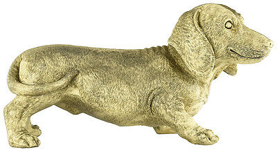 New Matt Blatt Daschund Money Box Resin Gold