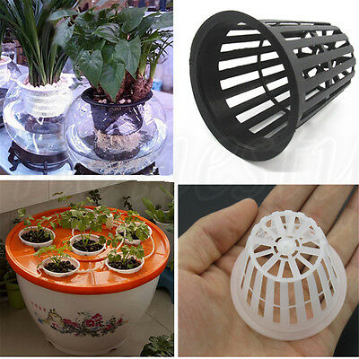 3~100Pcs Heavy Duty Mesh Pot Net Cup Basket Hydroponic Aeroponic Planting Grow