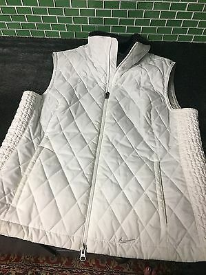 Women's Nike Puffy Vest with Black Fur Collar- Size Large