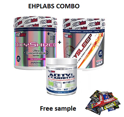Ehplabs Oxyshred & Ehplabs Oxysleep & Lcarnitine Thermogenic  Weight Loss Combo.
