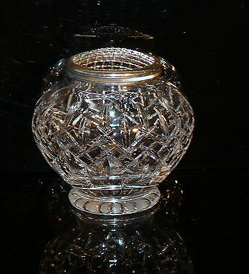 Vintage Royal Doulton Crystal Large Rose Bowl