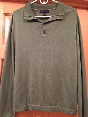 Banana Republic Men's Size Large Green Silk Cashmere Sweater