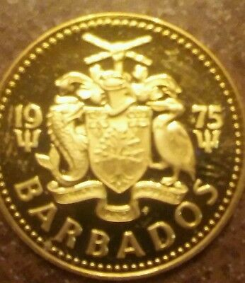 1975 Barbados Five Cent Proof Coin