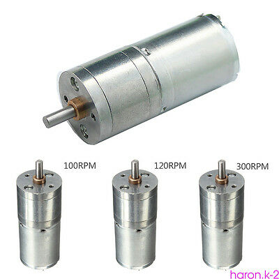 Strong Torque 555 DC 12V Gear Motor Metal Gear Slow Speed Tank Robot DIY vkj