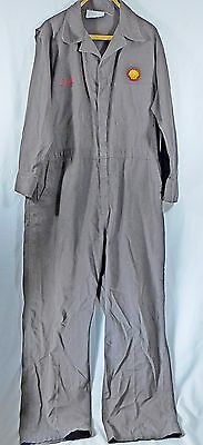 """Vintage SHELL OIL Gas Station Mechanic Uniform Coveralls for """"Ted"""""""