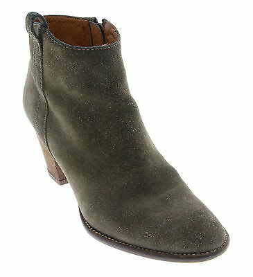 Women's MADEWELL Green Leather Booties Boots Size 6