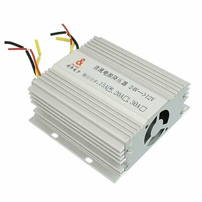 DC 24V to 12V 15A DC Power Supply Truck From Auto Converter Transformer S8U6