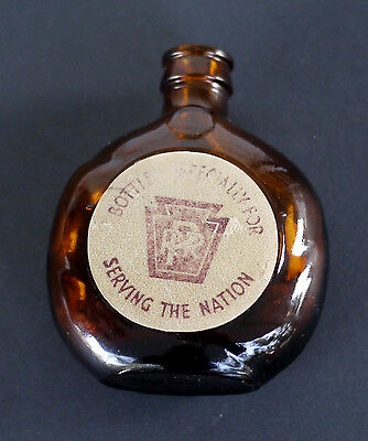 Old Forester Whiskey Bottle PRR Pennsylvania Railroad Served Onboard Train