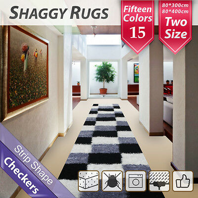 15 Colour Hallway Runner Shag Shaggy Floor Confetti Rug Carpet Mats 400 x 80 cm