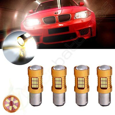 4x 1157 Cree LED 54 SMD 6000K Projector Front Turn Signal Bulb Light Free Ship