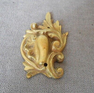 French Antique BRONZE STYLISH Plaque Finial Ornament