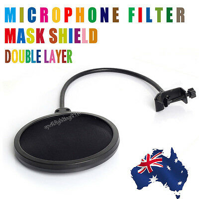 Local Professional Dual Layer Microphone Pop Filter Podcast Studio Singing Mic