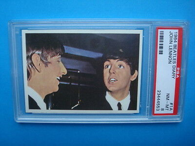 RARE Topps 1964 *The BEATLES Diary* Key Card #1a Graded PSA 8 NM-MT Paul & RINGO