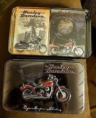 Harley Davidson Playing Cards Limited Edition Tin 1999 2 Decks of Playing Cards
