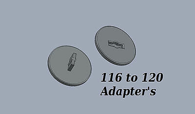 116 to 120 Film spool camera Adapter Set Kodak Canon Nikon