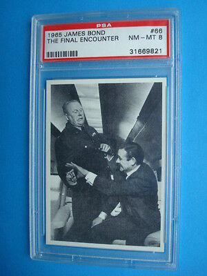 RARE Philly 1965 *JAMES BOND 007* Key Last Card #66 Graded PSA 8 NM-MT Connery