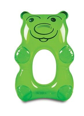 New Matt Blatt Gummy Bear Pool Float Durable vinyl Green