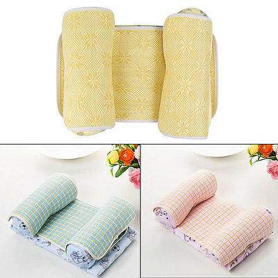 Baby Toddler Pillow Positioner Cot Bed Memory Foam Head Support w/ Bamboo Cover