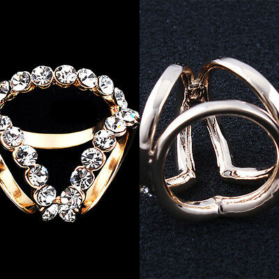 Women Fashion Crystal Silver Gold Plated Wedding Engagement Bridal Rings Jewelry