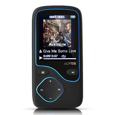 Agptek 8GB Wireless Bluetooth FM Radio MP3 Player Lossless Support Up To 64GB