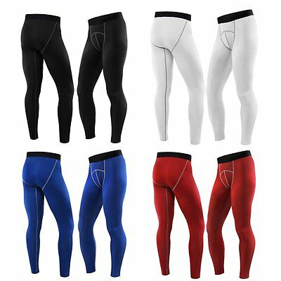 Mens Compression Base Layer Pants Quick-drying Leggings Baseball Sports Trousers