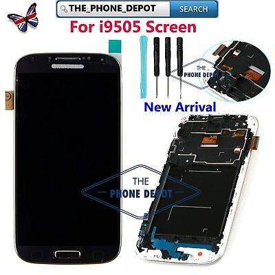 For Samsung Galaxy S4 i9505 i9508 LCD Display Touch Screen Digitizer Black Frame