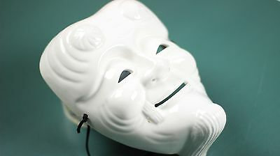 Japanese Noh Type Ceramic Mask | White | 8.5""