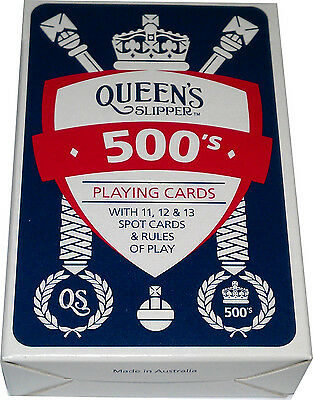 Queen's Slipper 500's Blue Deck Of Playing Cards Casino Slip Bridge Size Games
